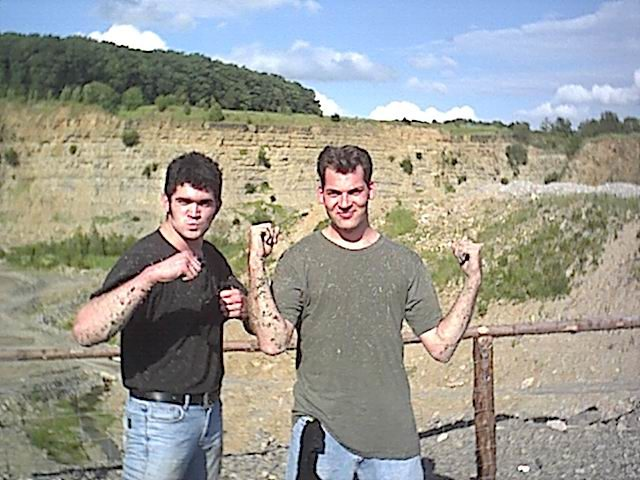Die Quadstrecke gab es leider nur einen Sommer. Firmenausflug mit STAHL. Thilo und Jan.