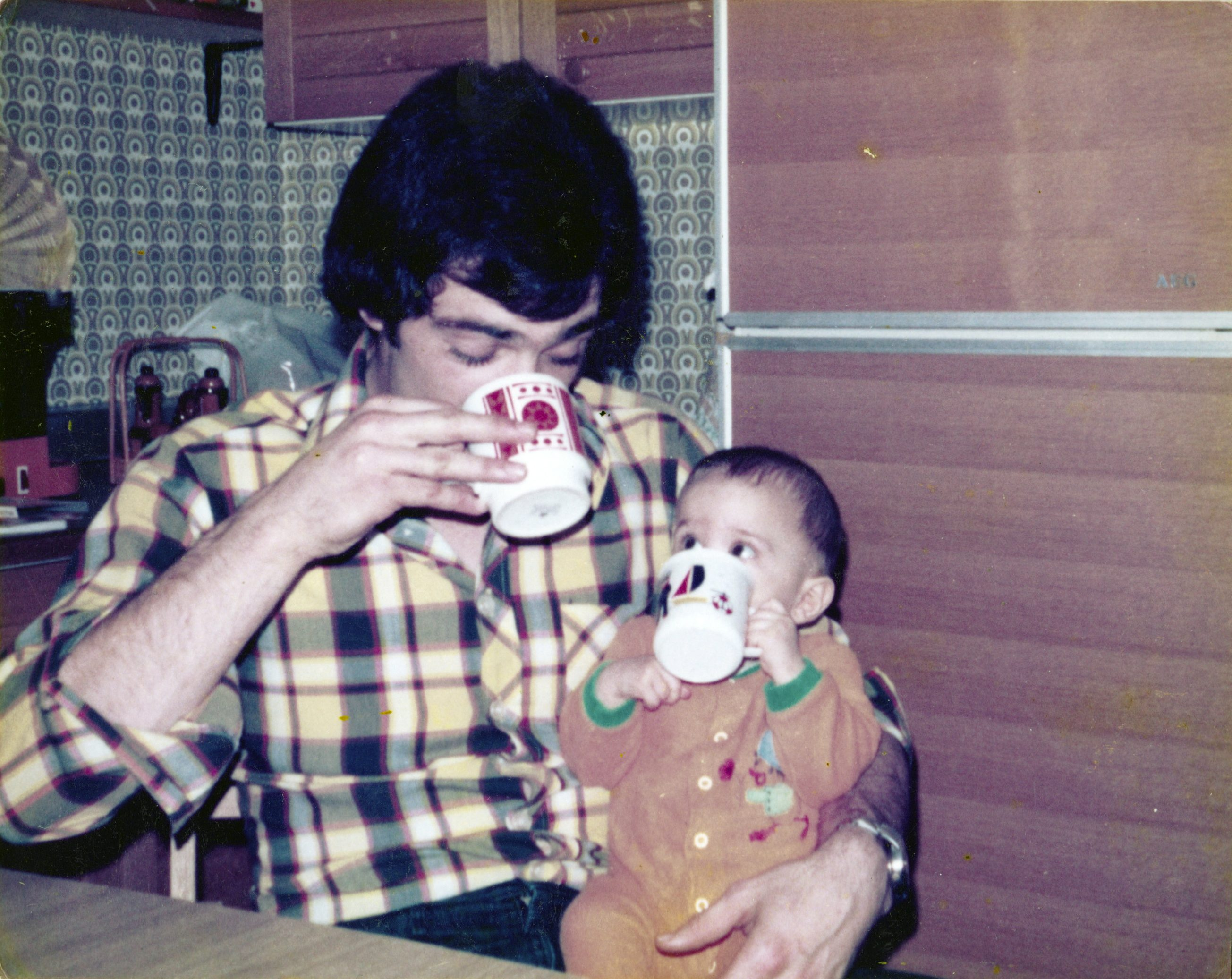 Vater und Thilo - Kaffeepause