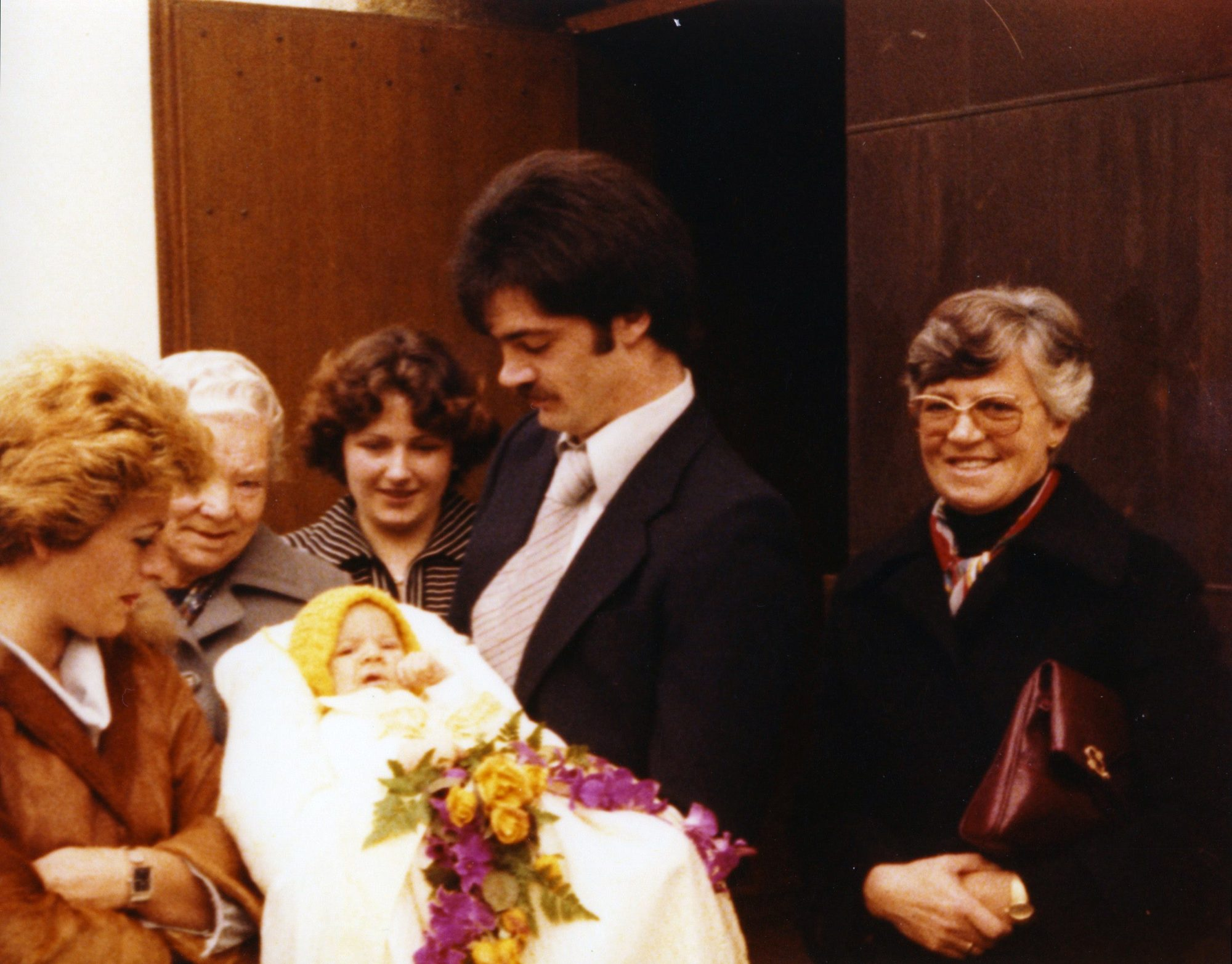 Die Taufe von Thilo in der Johanneskirche in Künzelsau. 30. Oktober 1977