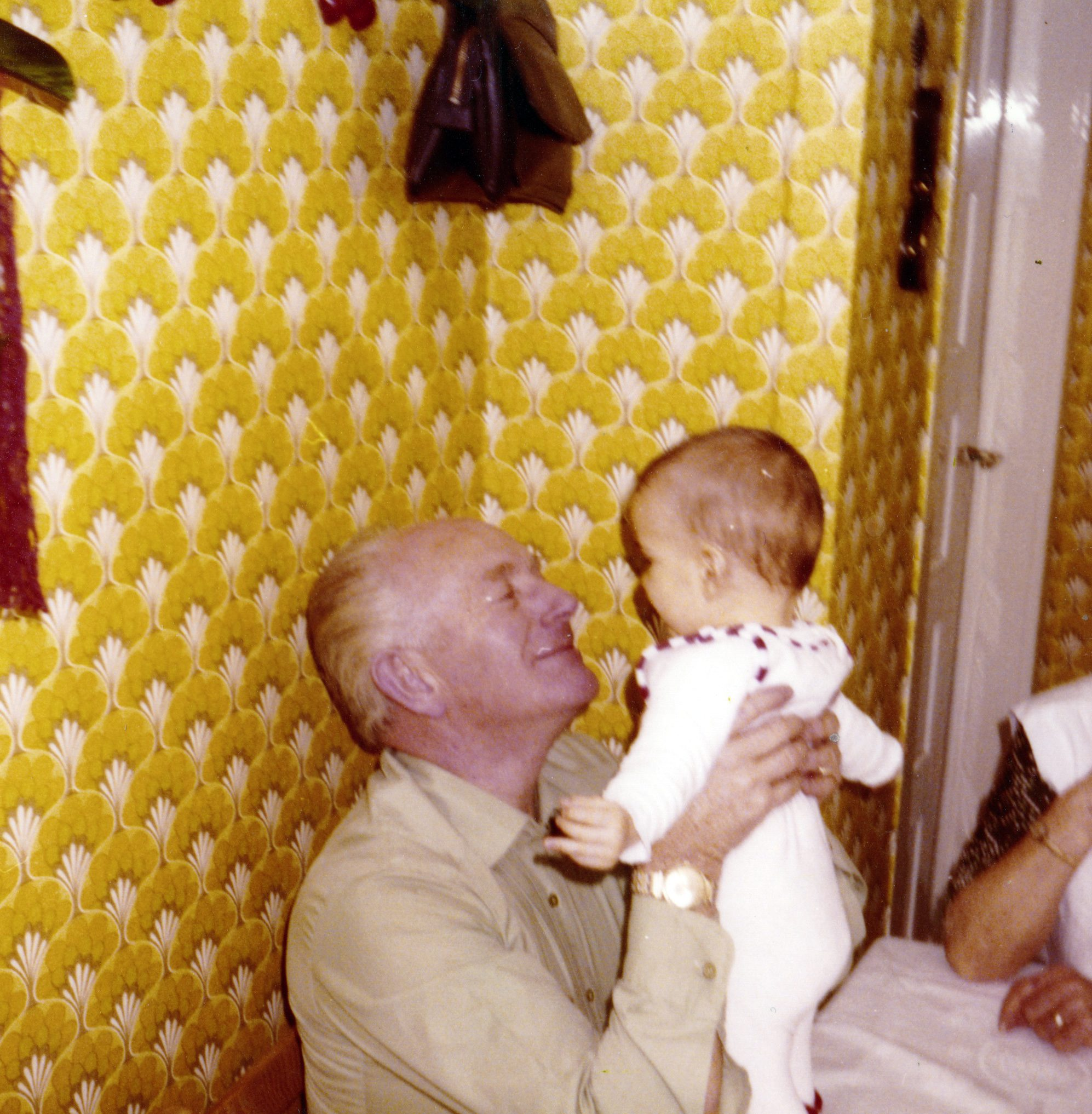 Opa und Thilo. Thilos erste Weihnachten.