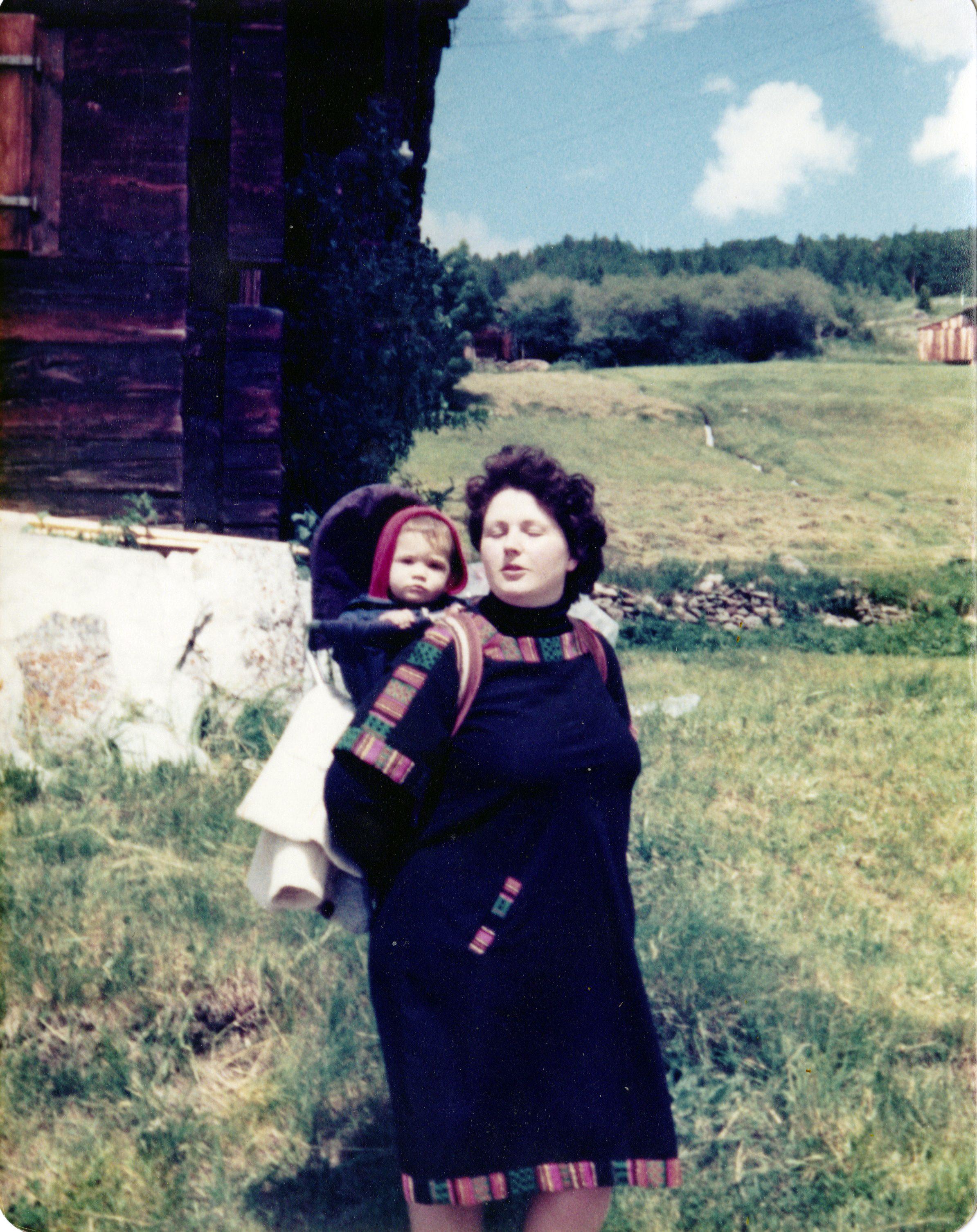 Mama und Thilo. Auf zur Bergtour.