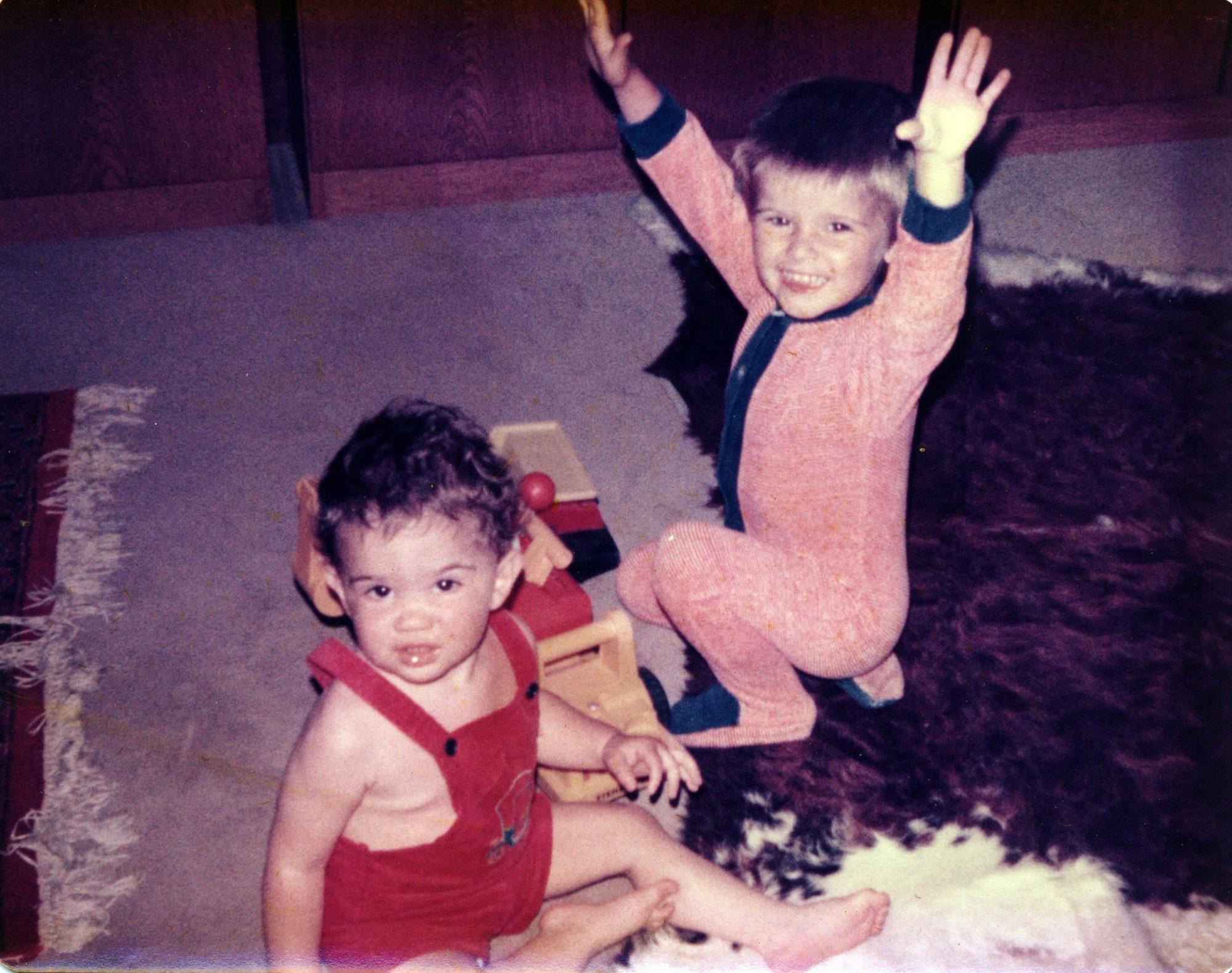 1978, September. Michael und Thilo beim Rocken.