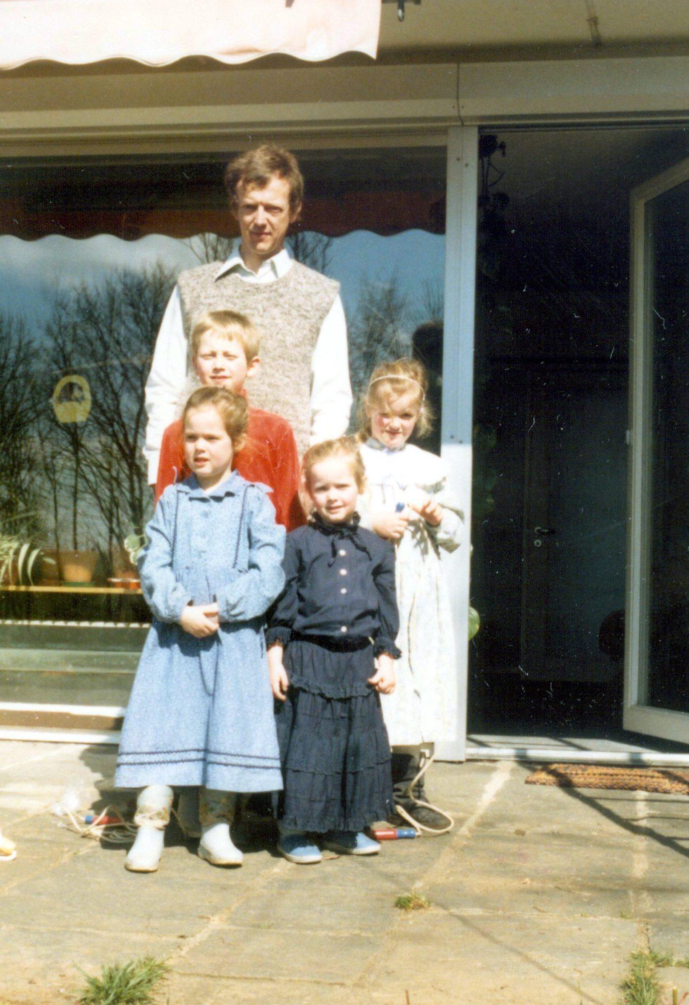 1988 - Vater mit Kindern