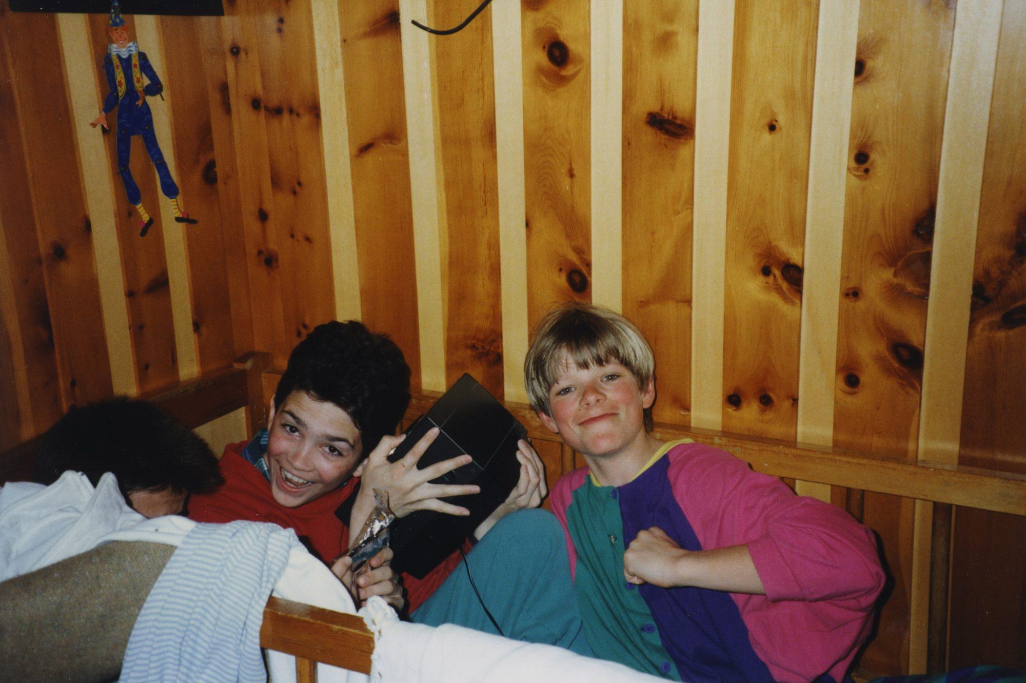 Michael, Thilo und Florian in Visperterminen in der Schweiz.