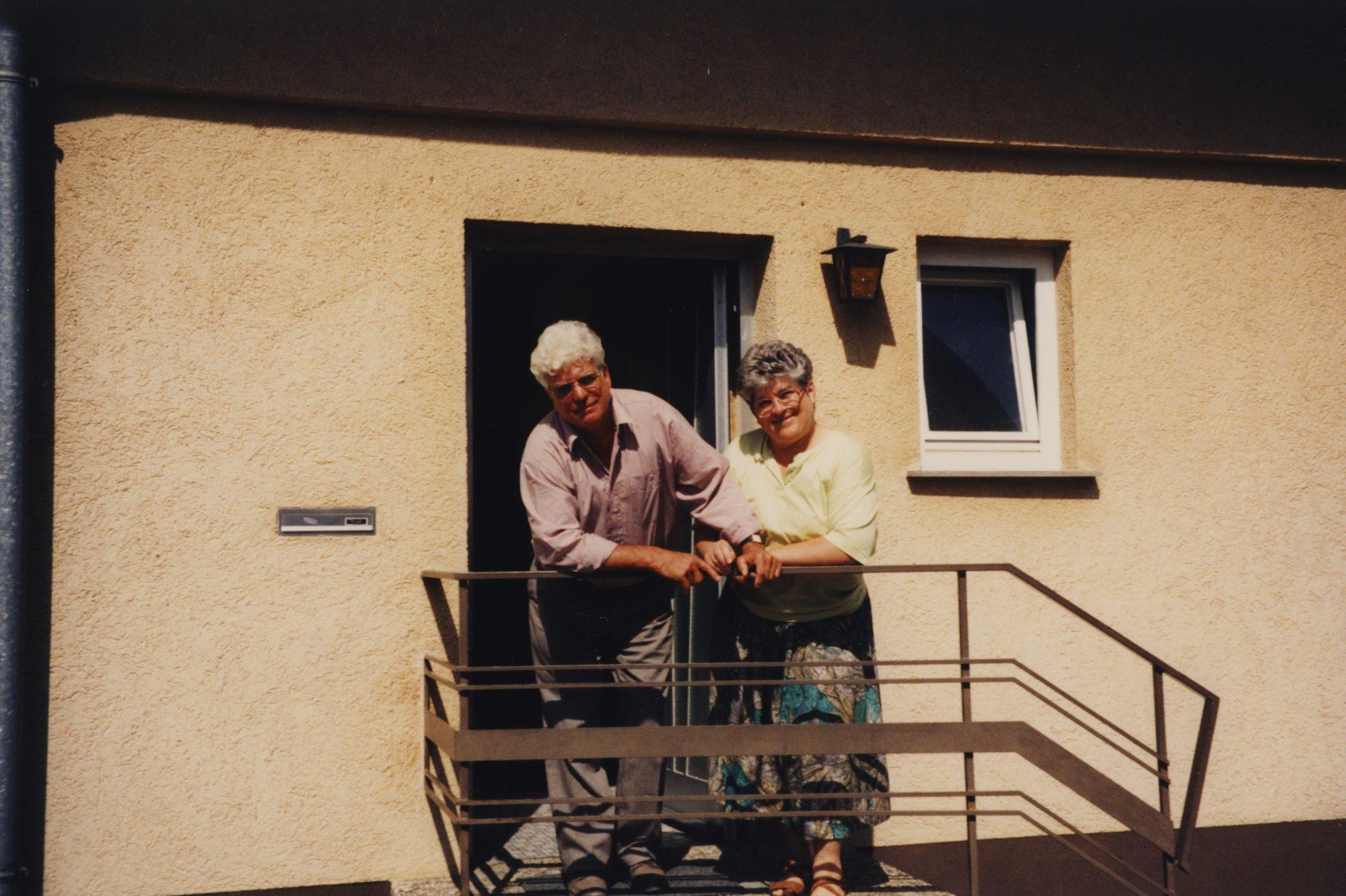 Juli 1993 - Tante Anni und Onkel Ernst in Heitersheim