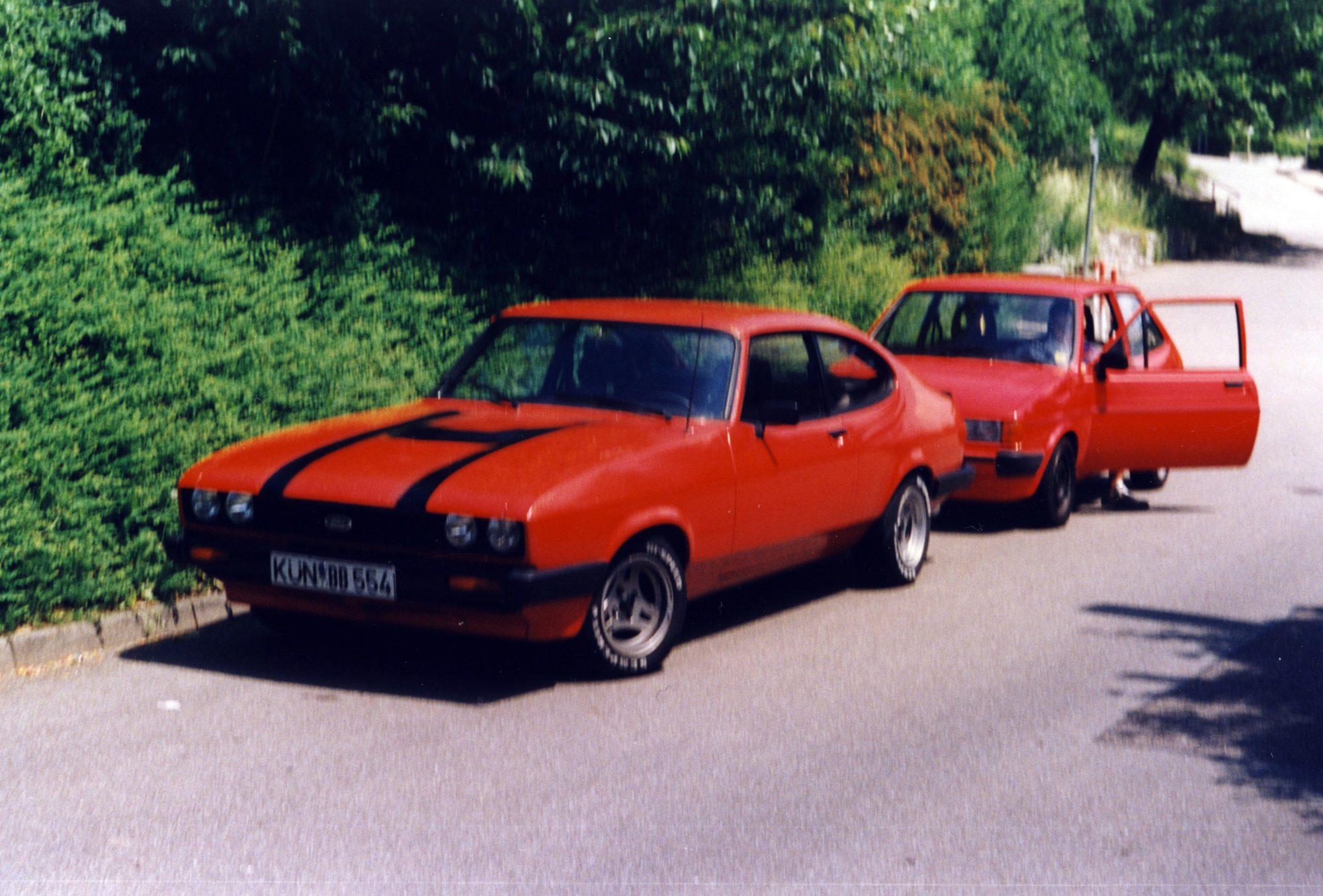 1996 - Thilos erstes Auto. Ford Capri, Baujahr 1982, 1,6l mit 73 PS... Der Motor hat allerdings nicht lange gehalten.