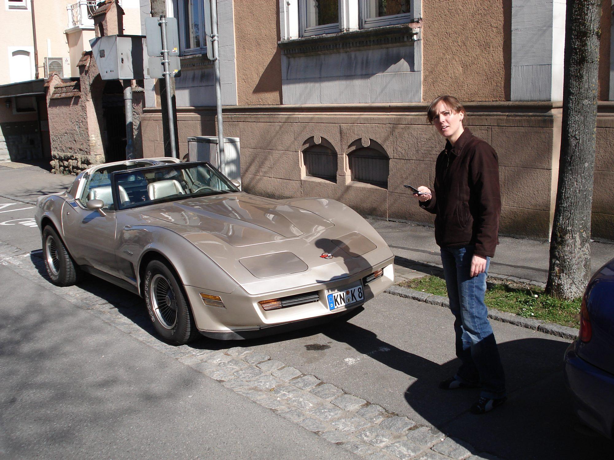 2007 - Bodenseeausflug. Corvette und Luisa.