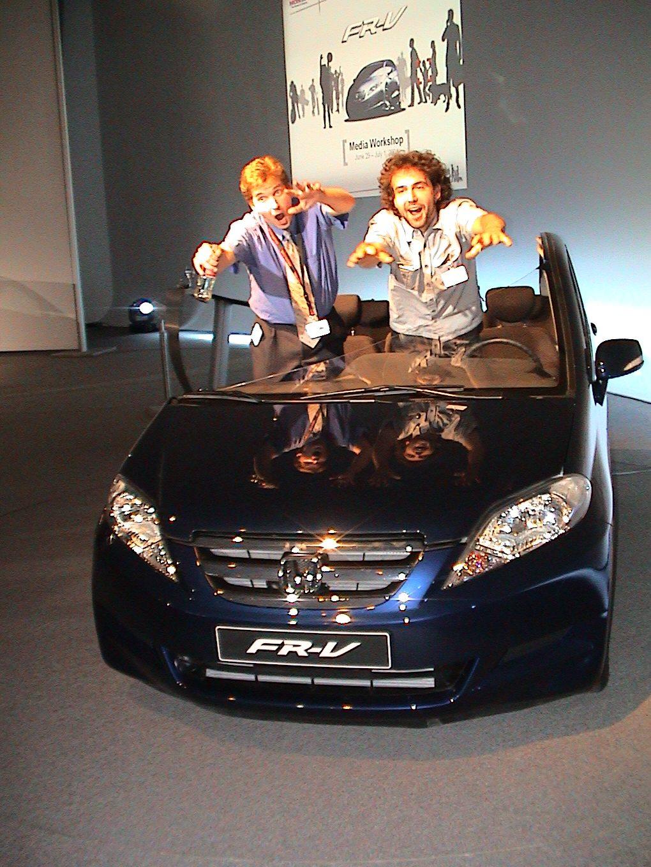 Die Pressevorstellung des neuen FR-V bei Honda in Offenbach. Wolle und Tim.
