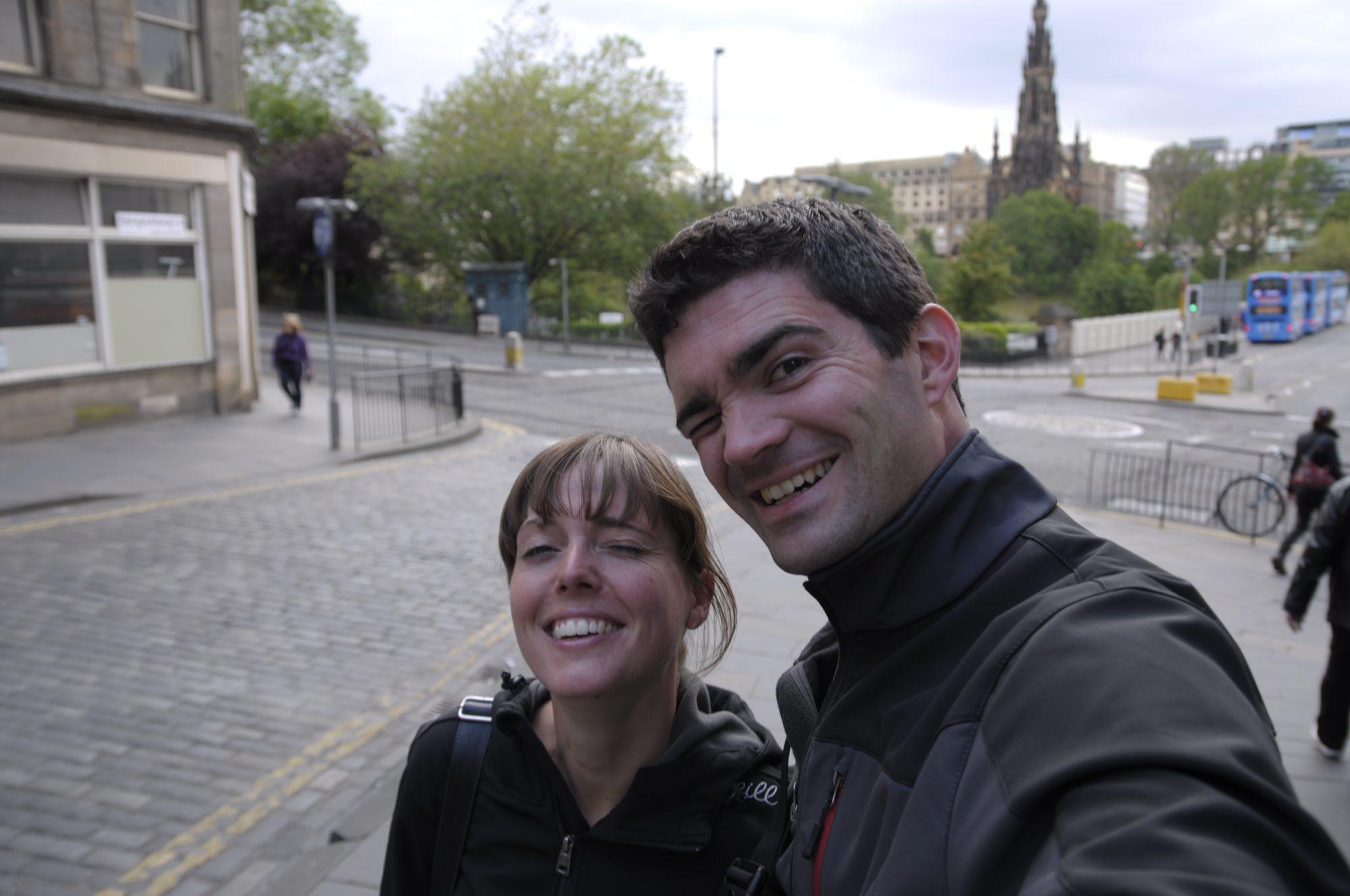 Juni 2011 – In Schottland. Luisa und Thilo in Edinbourgh.