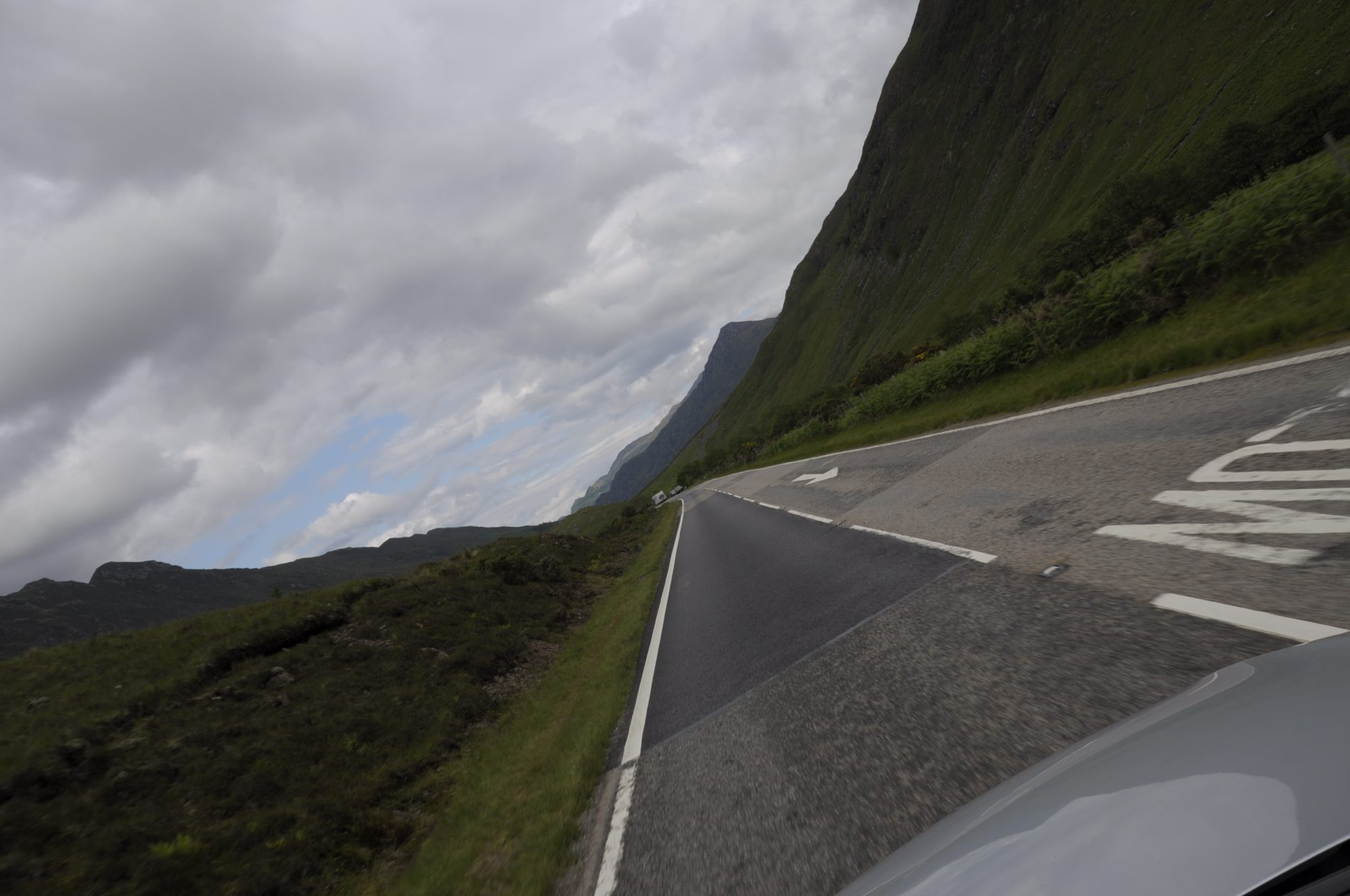 Juni 2011 - On the roads in Scotland.