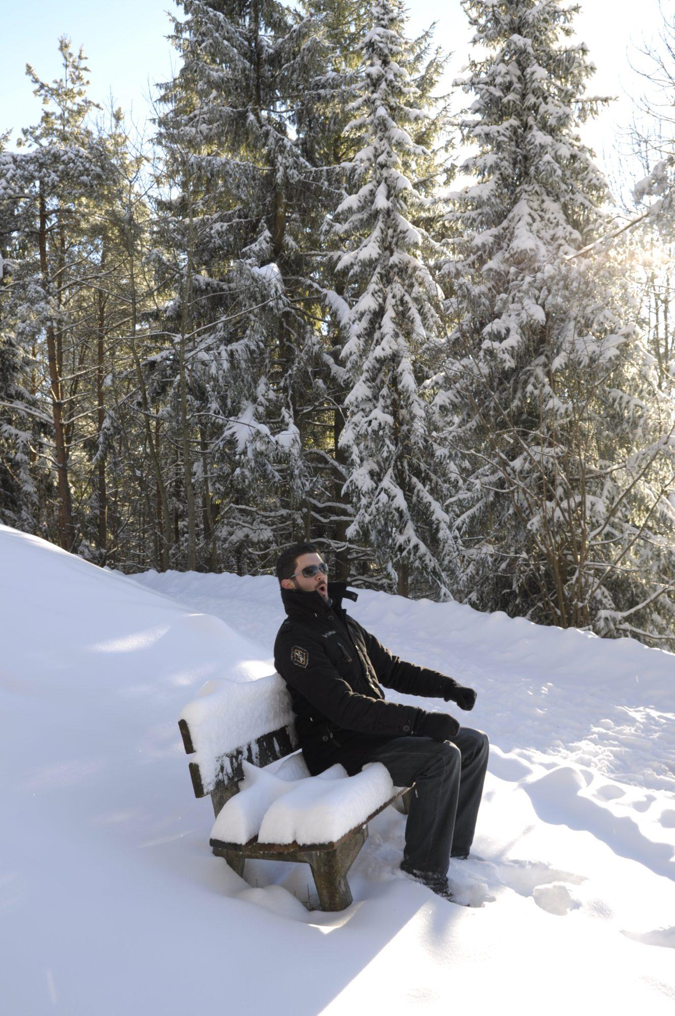 Dezember 2010 - Winterlandschaft auf dem Fürstenberg. KAAAAALT!