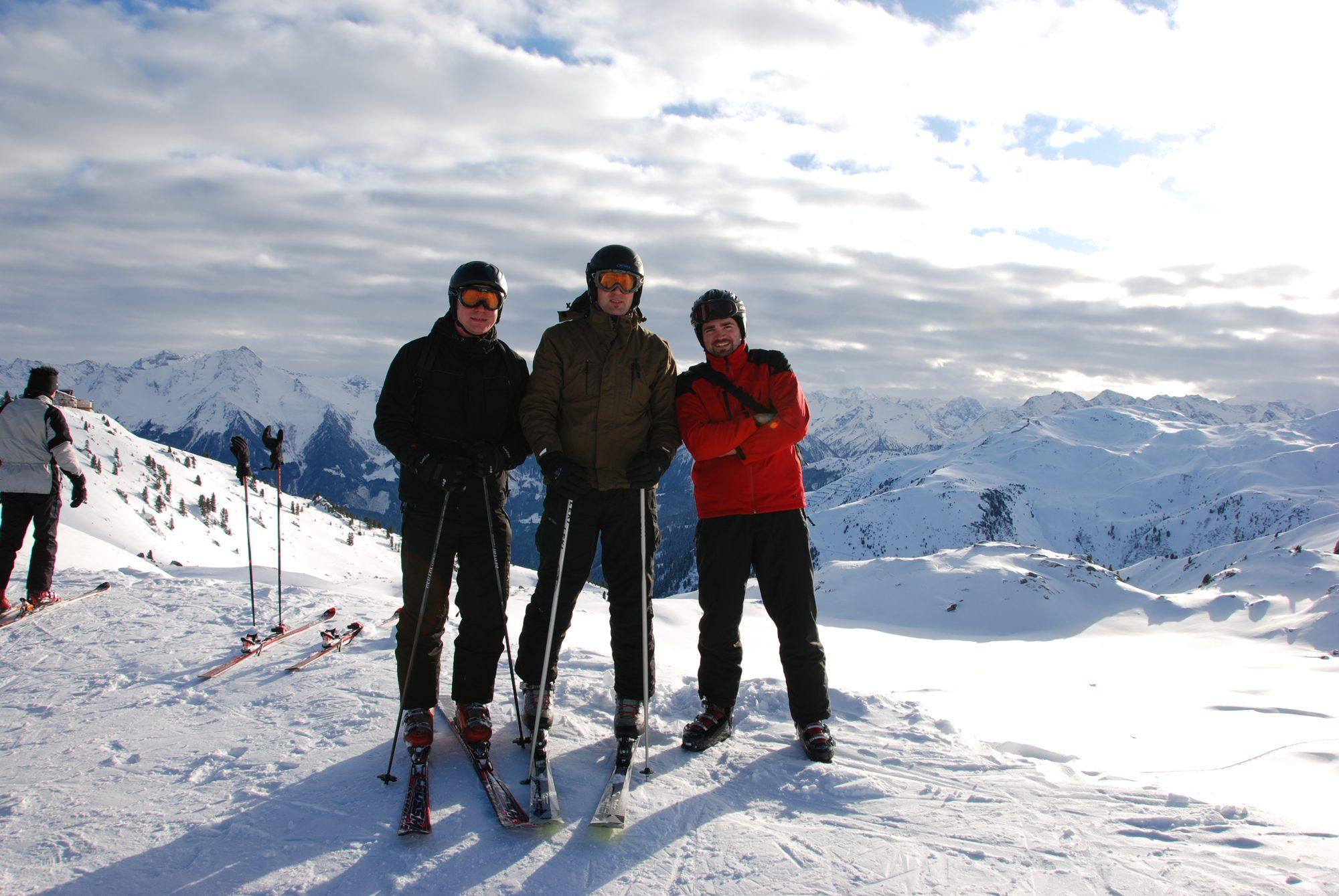 Januar 2010 - Skifahren im Zillertal. Ray, Jan und Thilo.