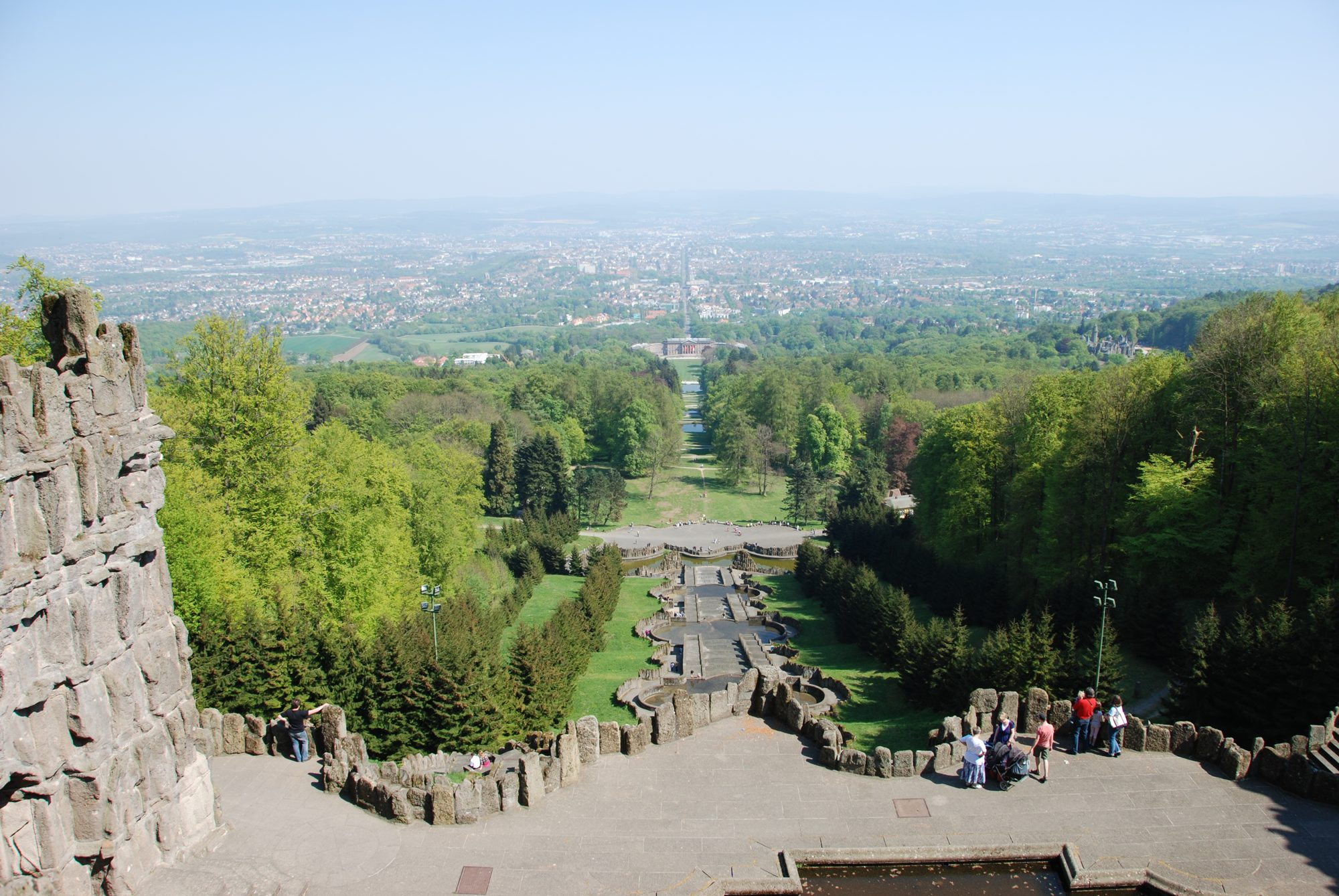 April 2011 - Blick vom Herkules in Kassel.