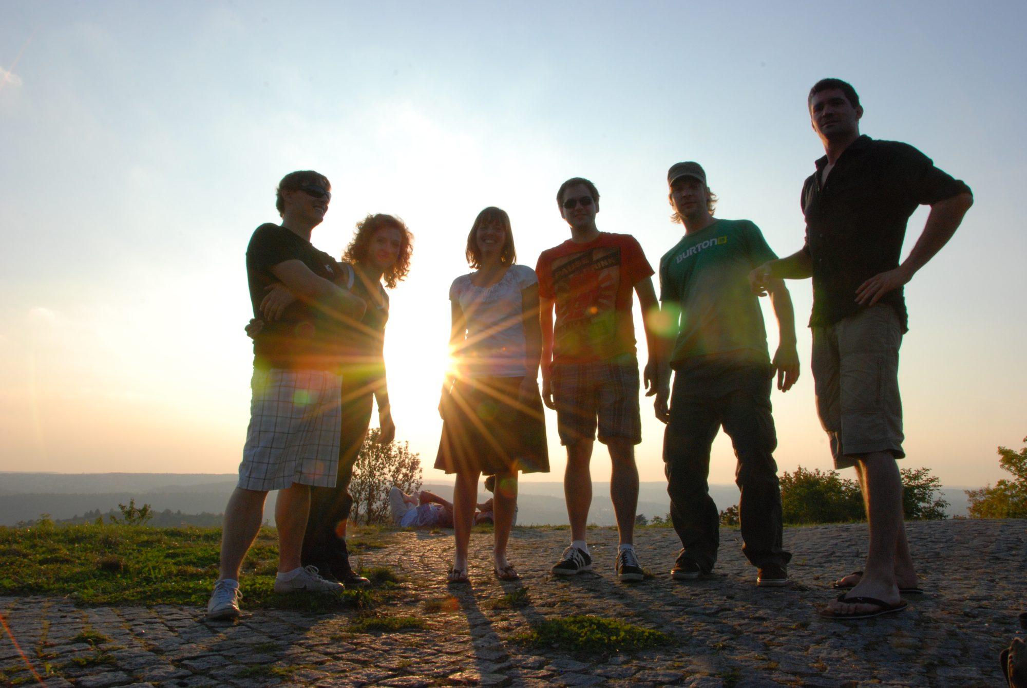 Oktober 2011 - Auf dem Rotenberg bei Stuttgart. David, Nadine, Luisa, Thomas, Johann und Thilo.