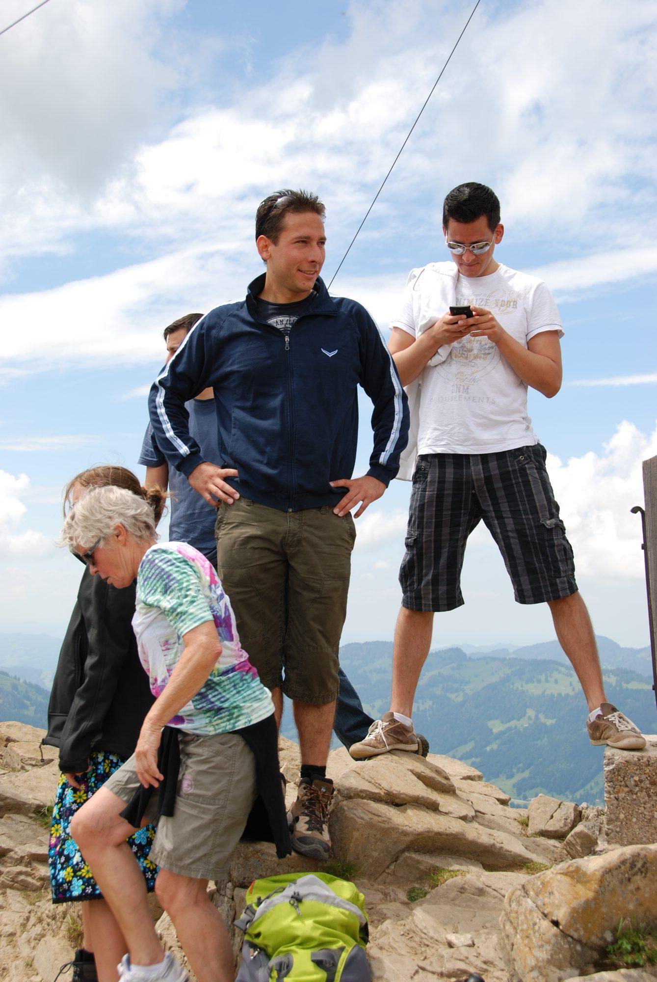 Juni 2012 – Familientreffen im Allgäu. On the Top.