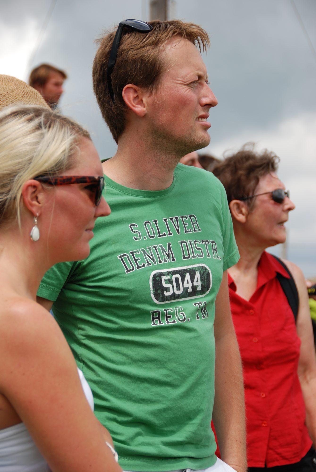 Juni 2012 - Familientreffen im Allgäu. Lisa, Mathias und Rita.