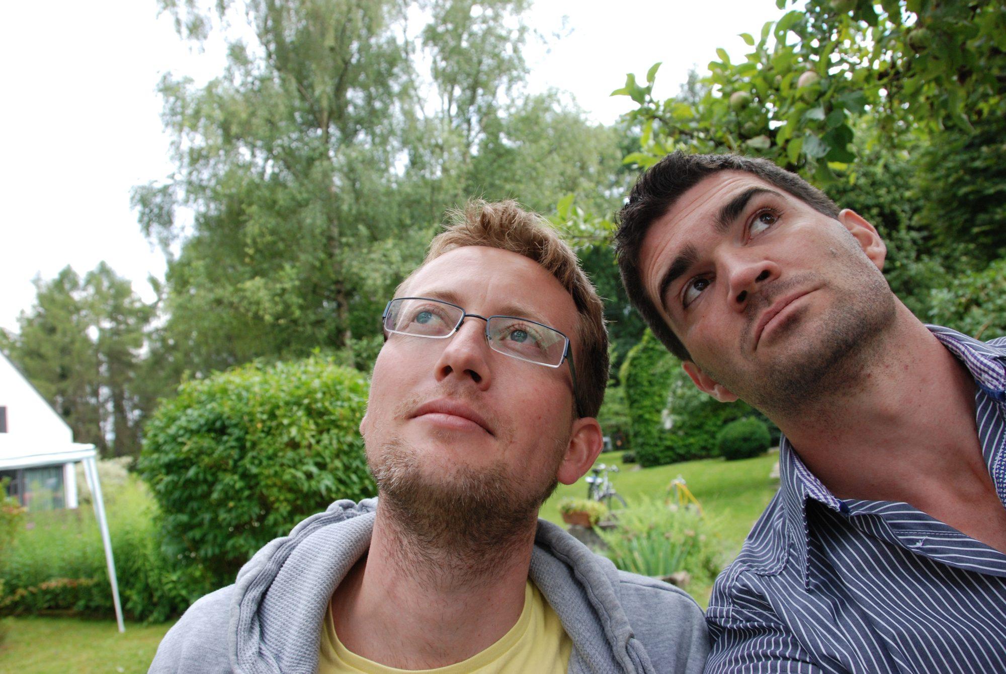 Im Juli 2012 - Mathias und Thilo auf Anna und Elisas Geburtstag in München.