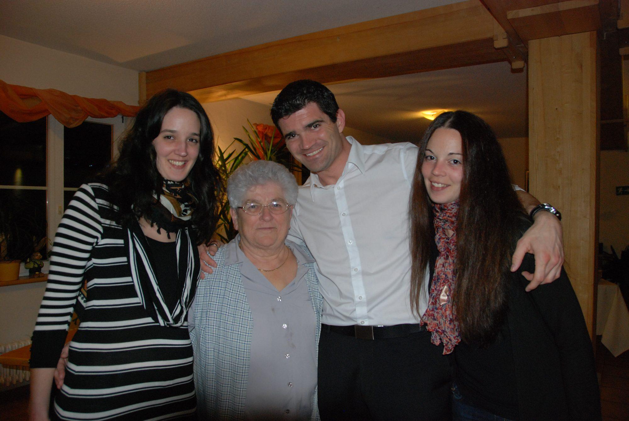Tamara, Tante Anni, Thilo und Sabrina