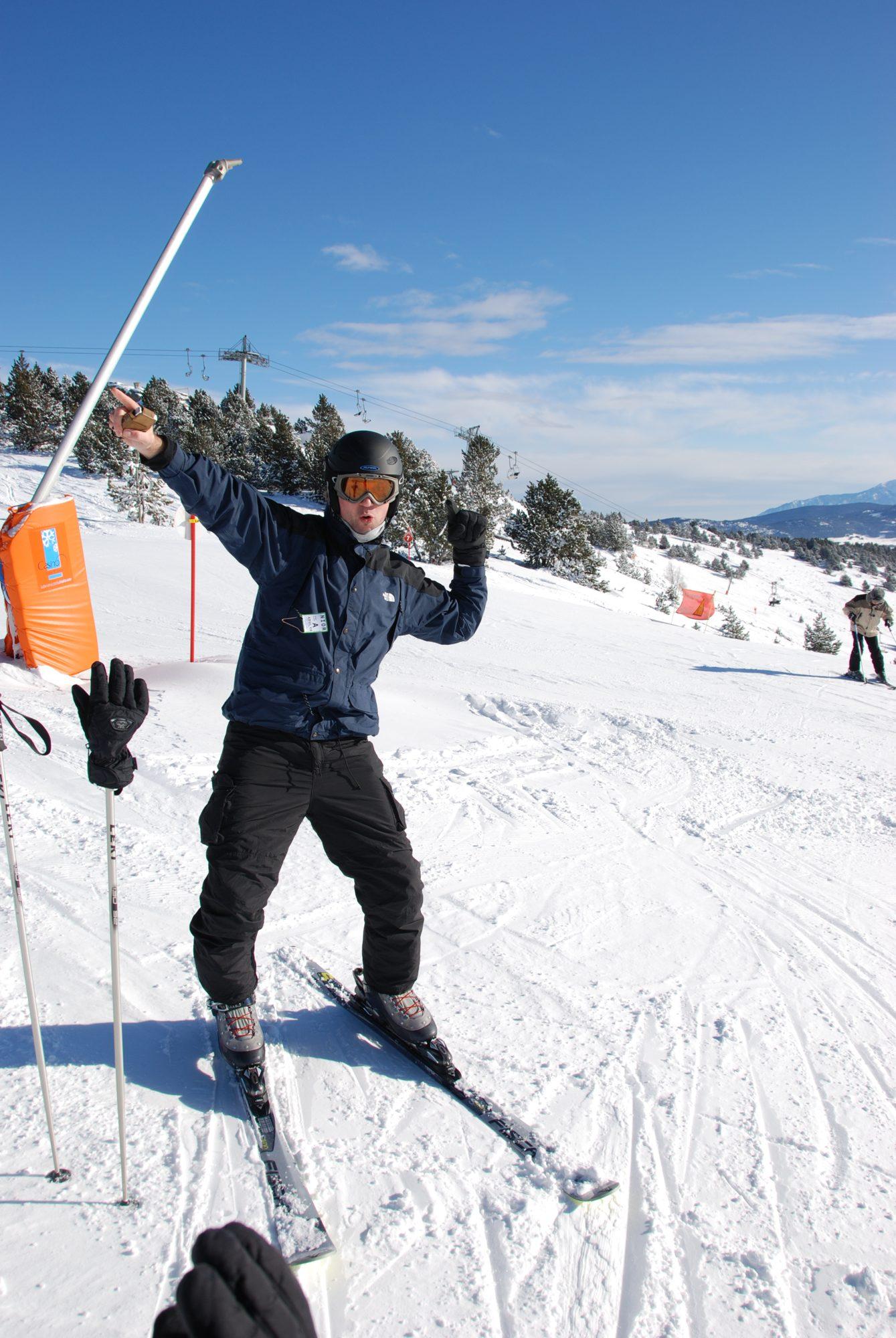 Januar 2009 - Skifahren in den Pyrenäen mit Jan.