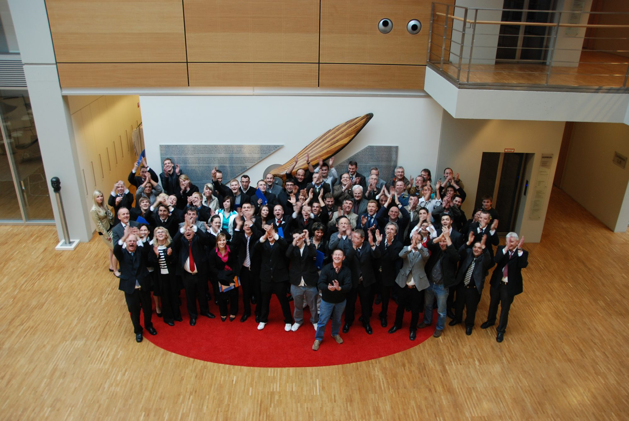 2009 - Shooting Freisprechungsfeier bei Zepplin München.