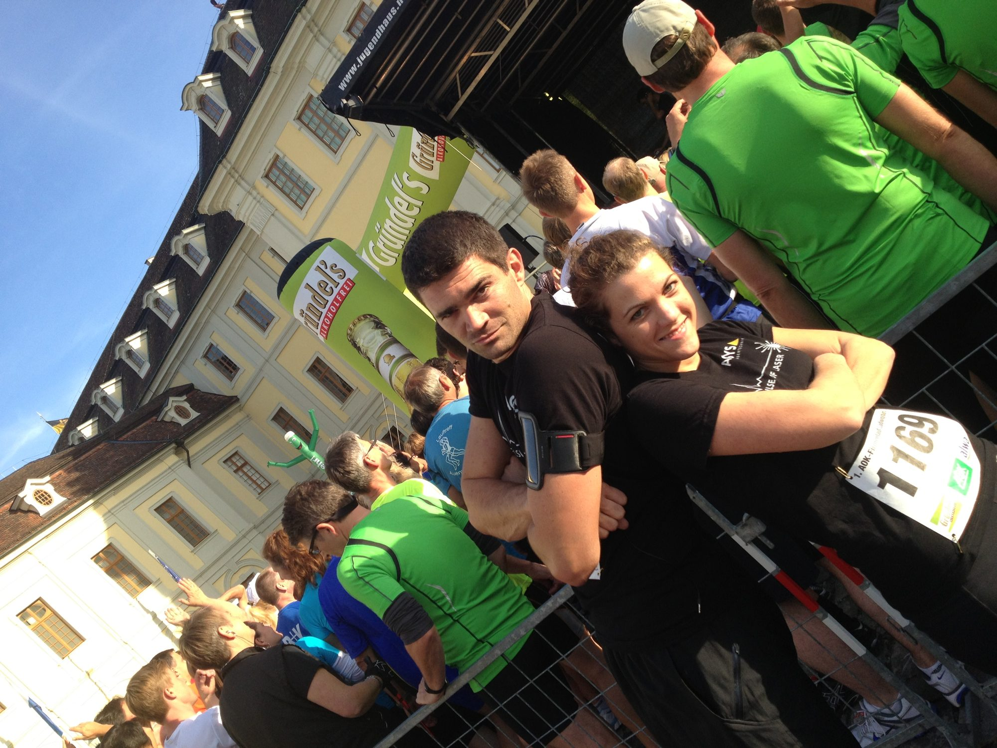 2012 - Thilo und Franzi vor dem Ludwigsburger Lauf