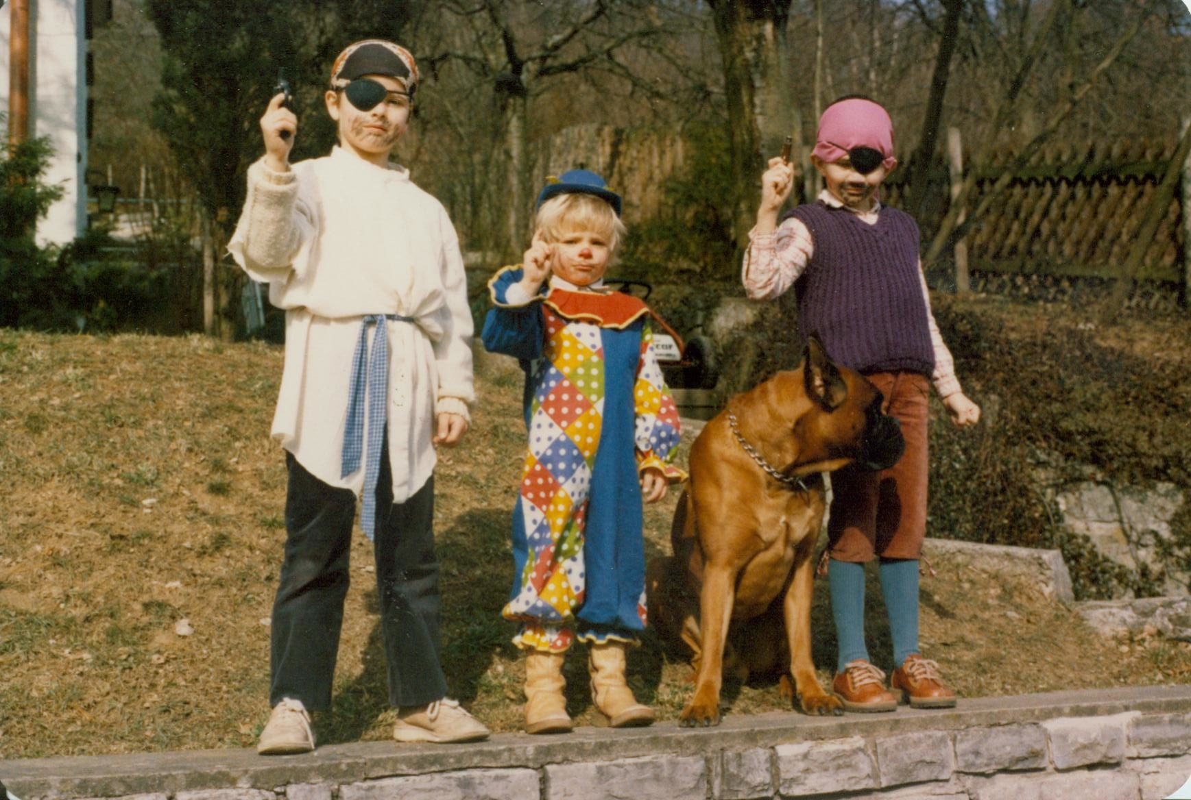 Michael, Florian, Askan und Thilo zum Fasching 1983.