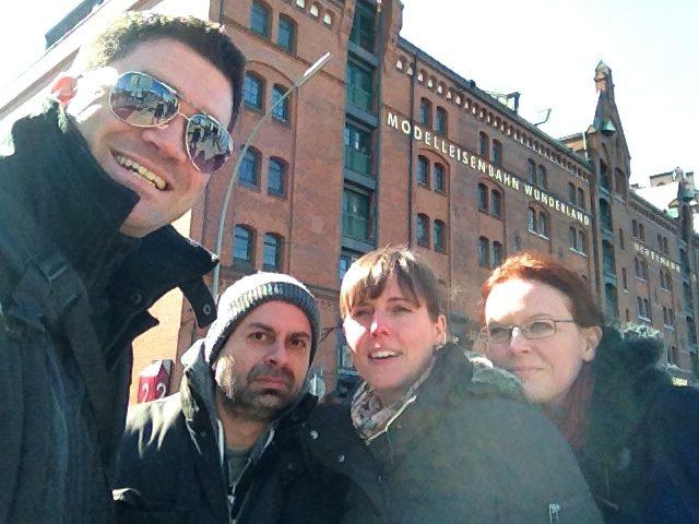 Die drei lustigen Vier in Hamburg