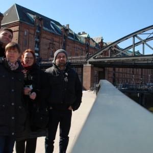 Hamburg - Thilo, Luisa, Johanna und Patrick auf Tour