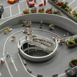 Hamburg - Miniatur Wunderland, Kofferkuli Race