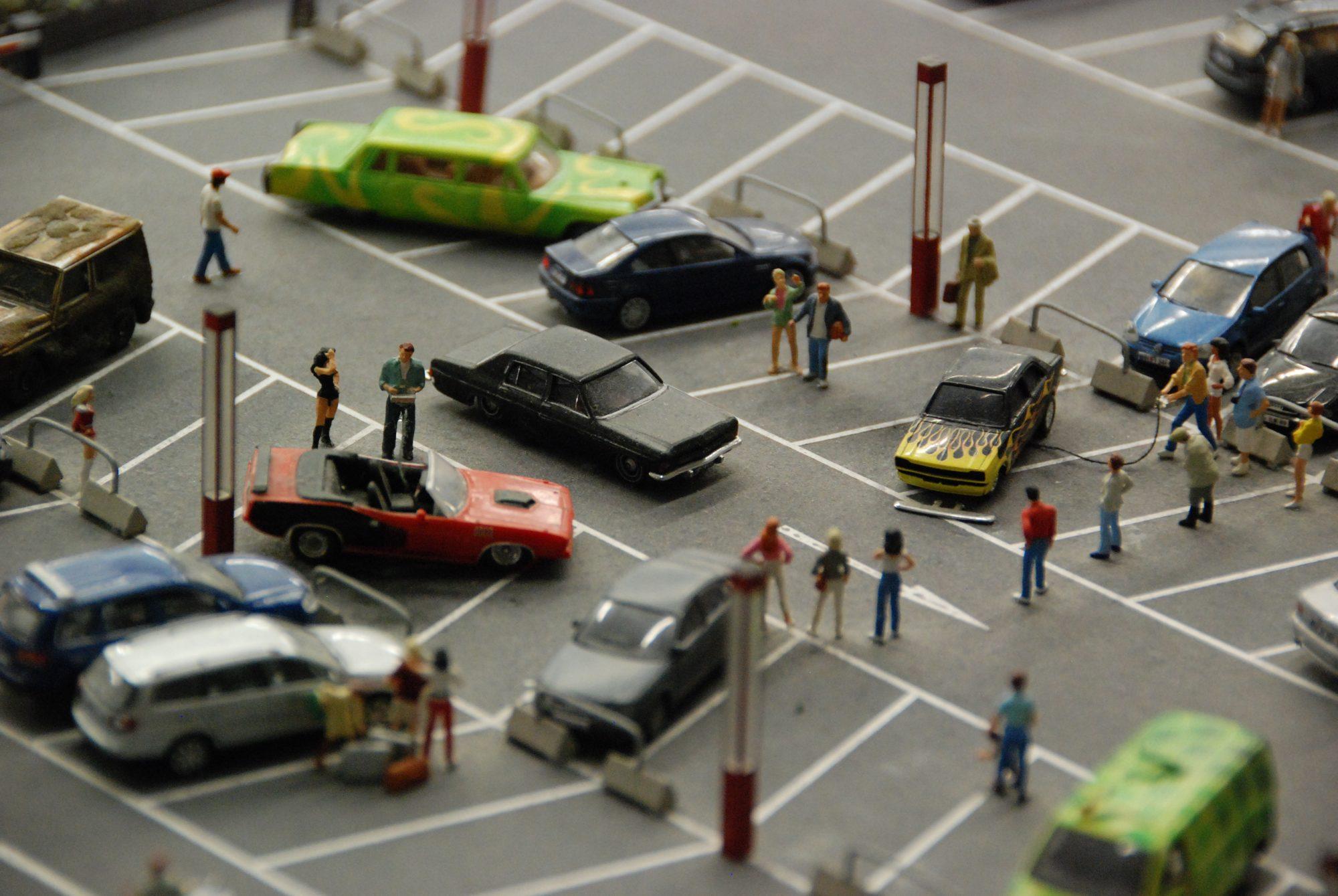Hamburg - Miniatur Wunderland, Parkplatz Lowrider