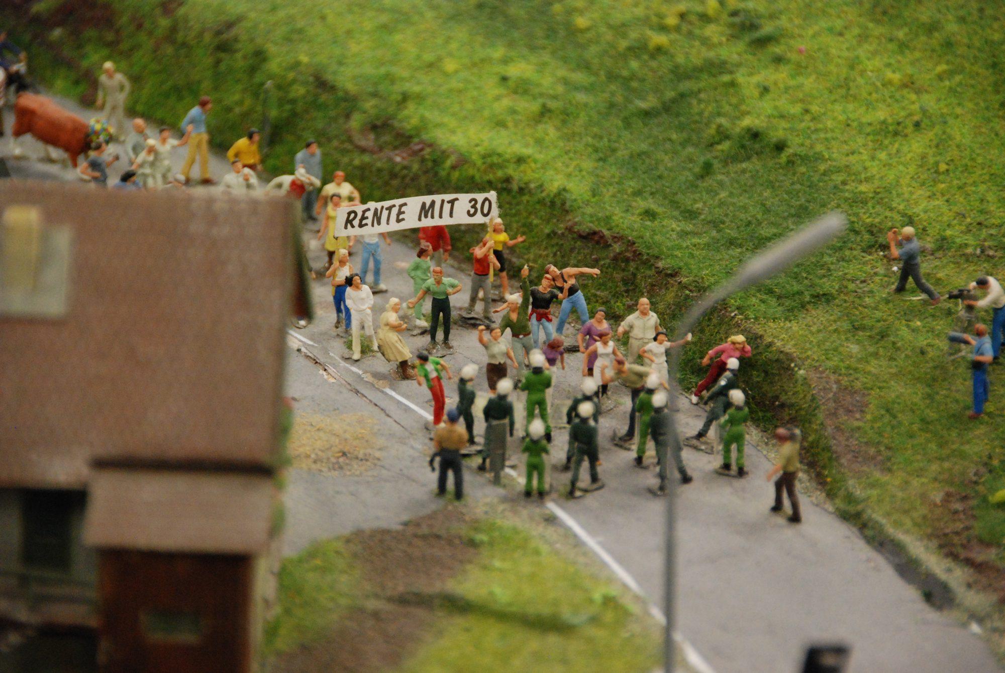 Hamburg - Miniatur Wunderland, Rente mit 30