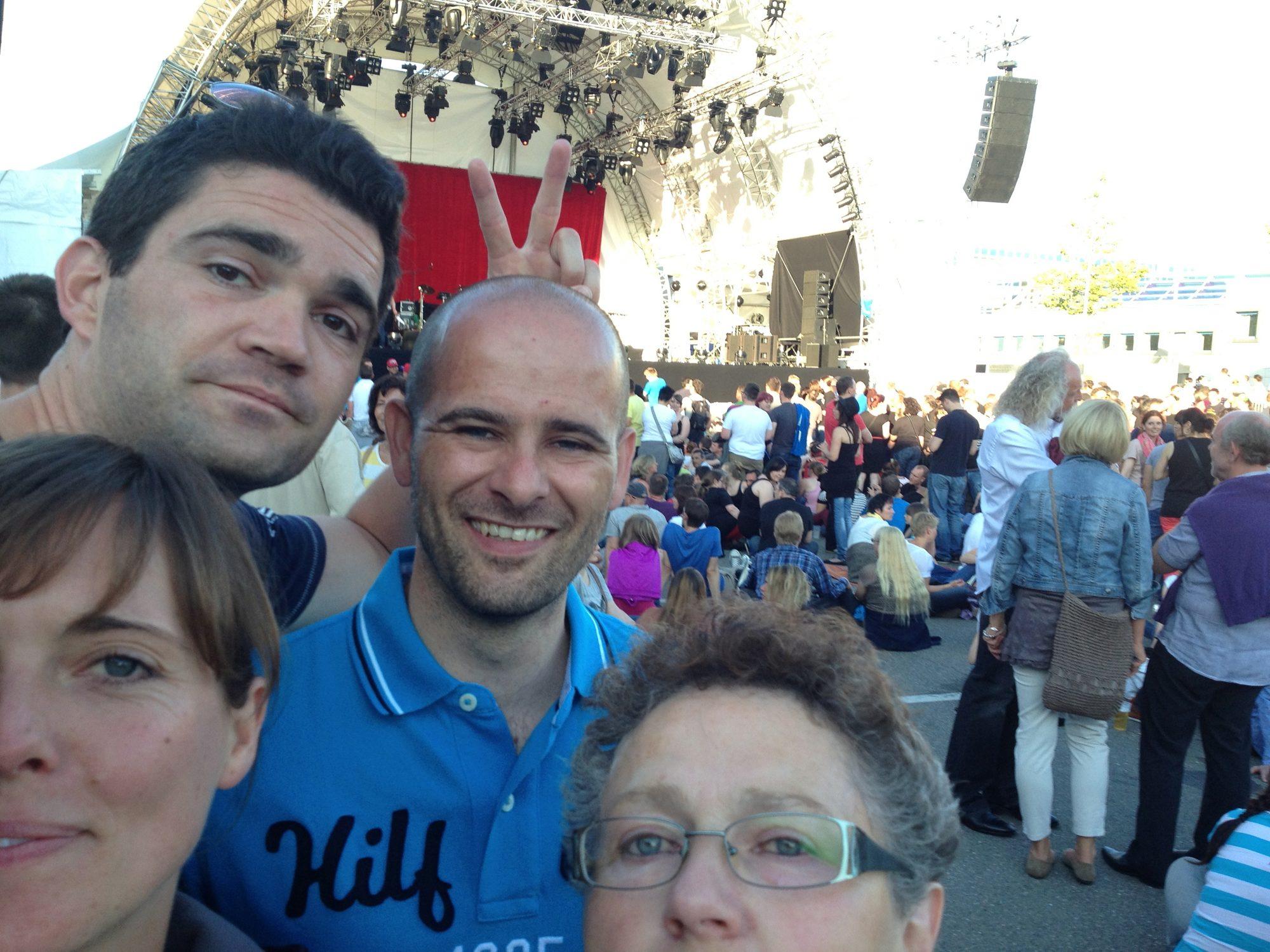 Groß und Klein auf dem Fanta 4 Konzert in Künzelsau