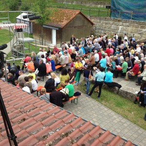 Rooftop filming! Theater im Fluss - Liliom