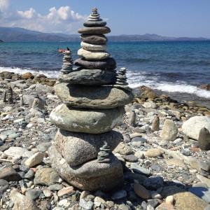 Steinskulpturen am Cap Corse