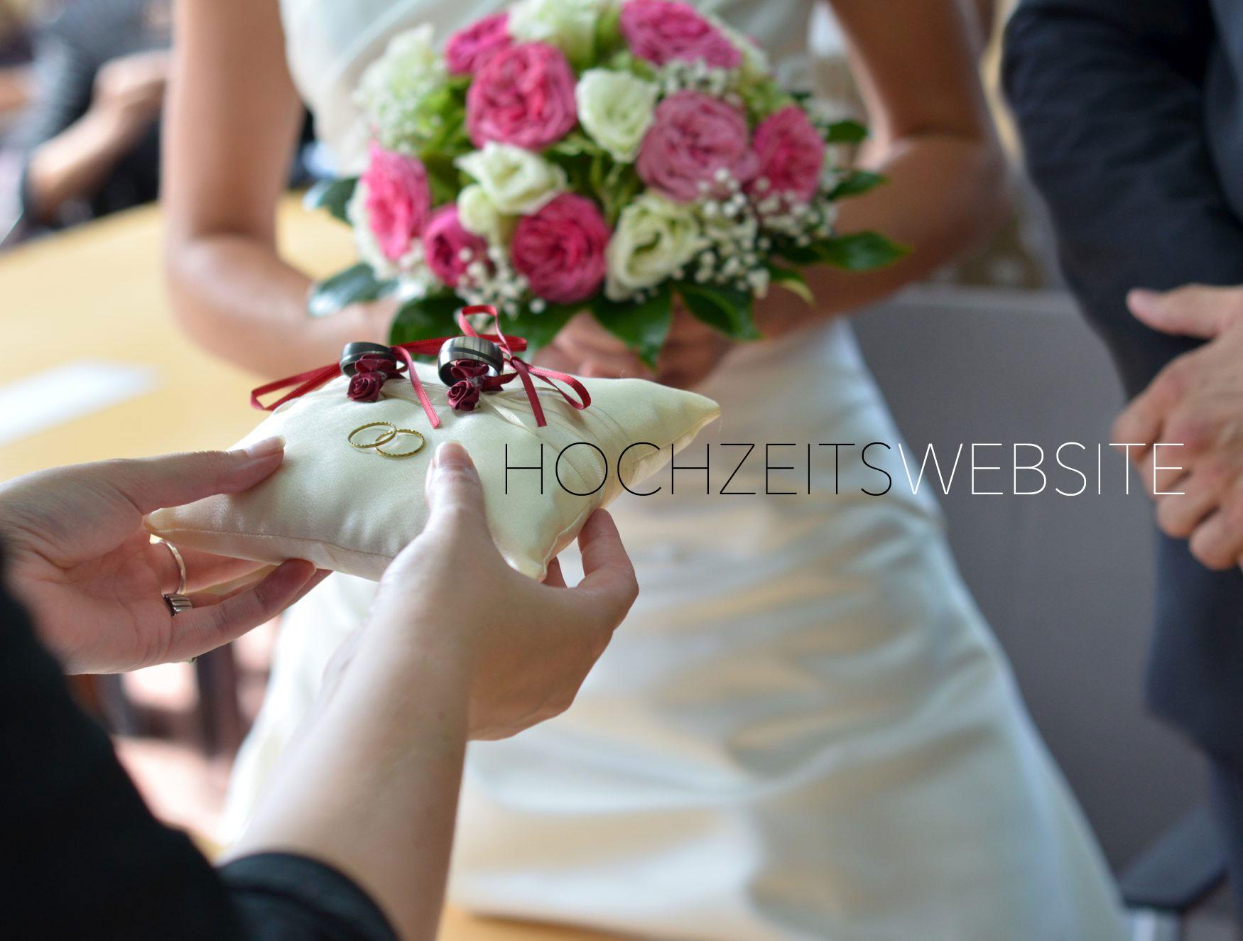 Die eigene Hochzeitswebsite